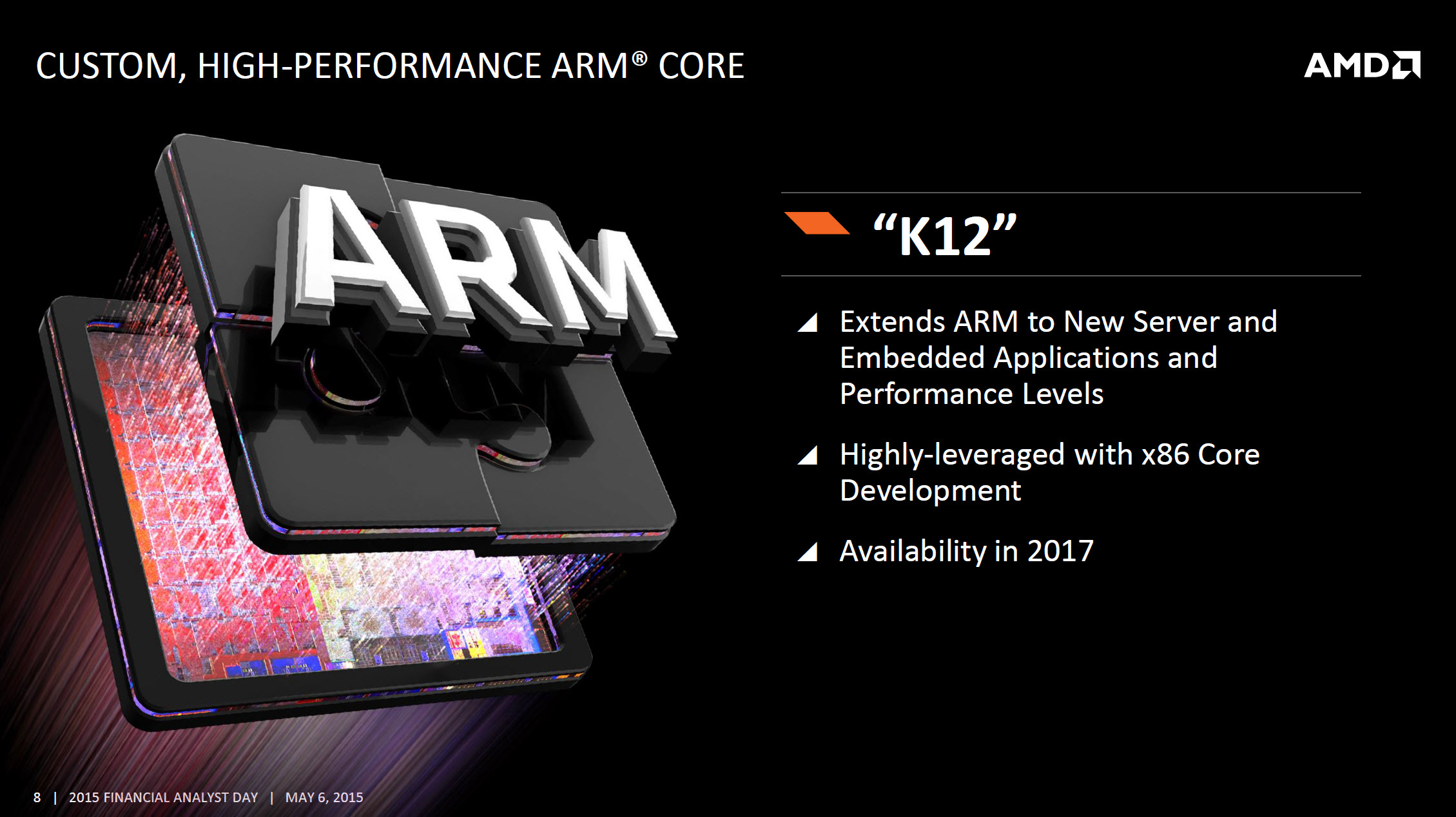AMD ARM K12 Core High-Performance Custom