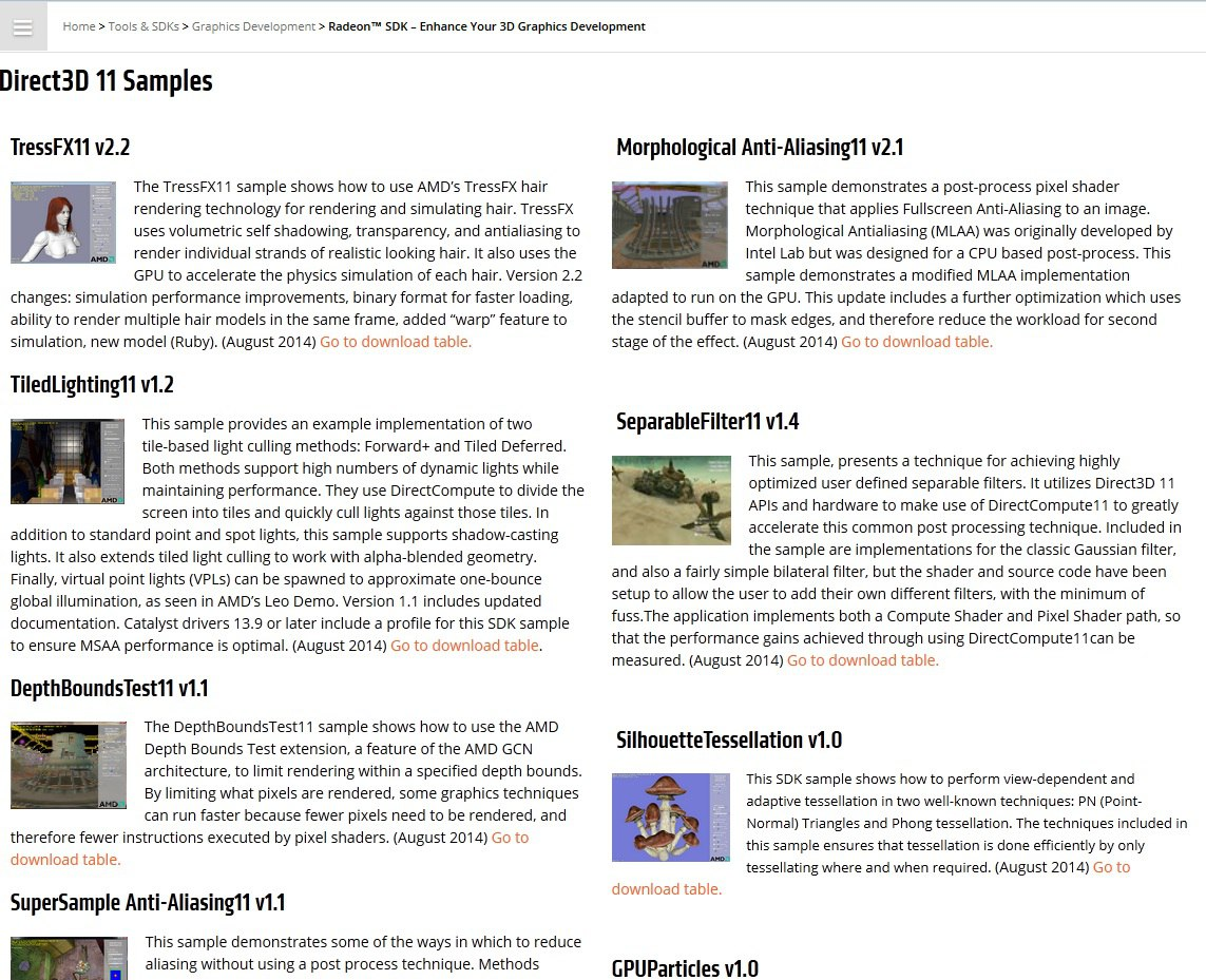 AMD Developer Website