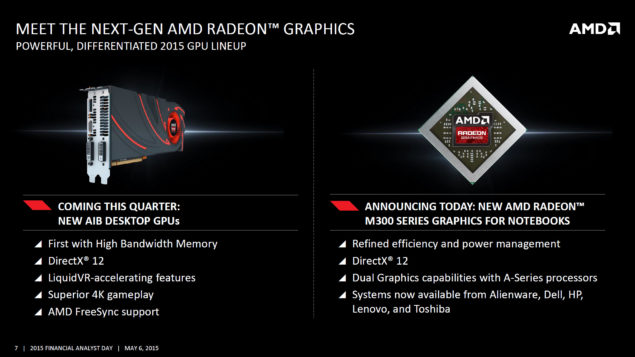 AMD Next Generation Radeon GCN 2015 GPU Lineup