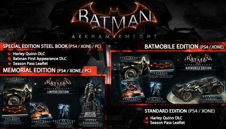 bfb015b53ae Batman Arkham Knight Various Editions Detailed from Datablitz