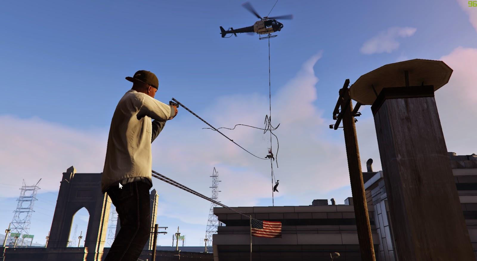 GTA V Mod Brings Just Cause Inspired Grappling Hook