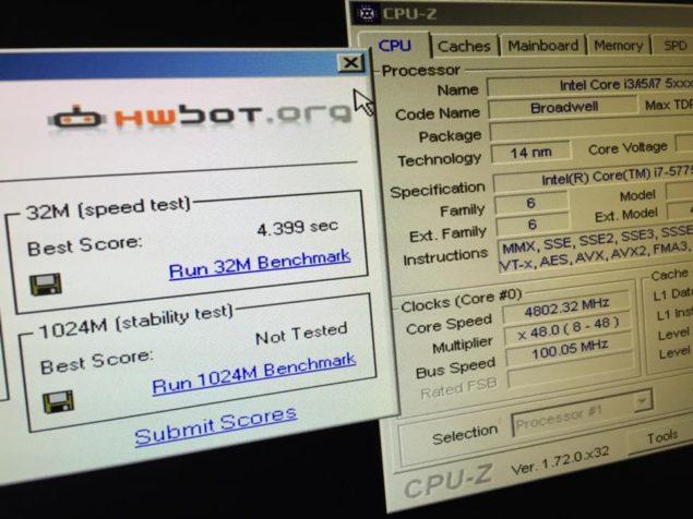 Intel Core i7-5775C WPrime