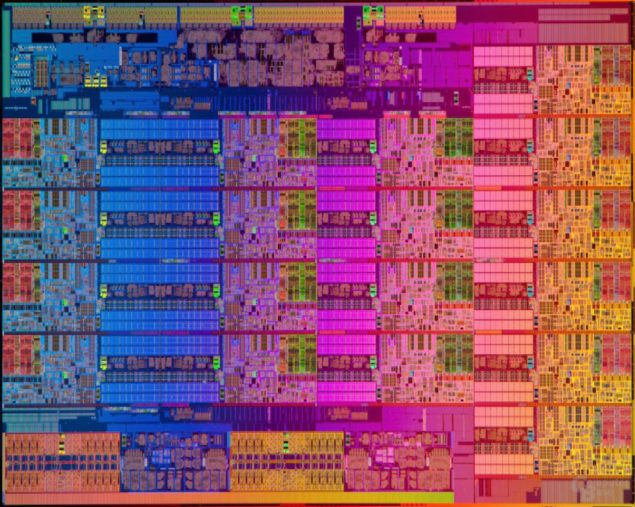Intel Haswell-EX Die Shot
