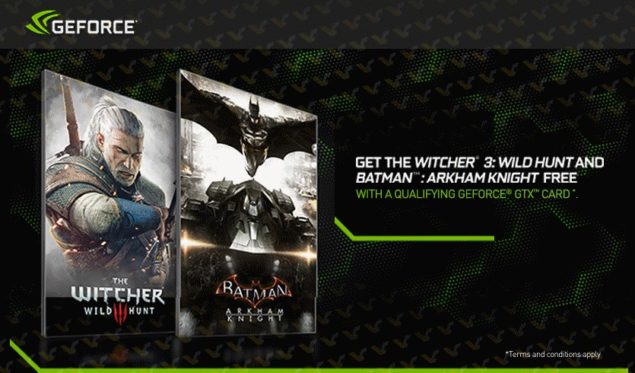 NVIDIA GeForce Bundle Witcher 3 and Batman Arkham Knight_GTX 970_GTX 980_1