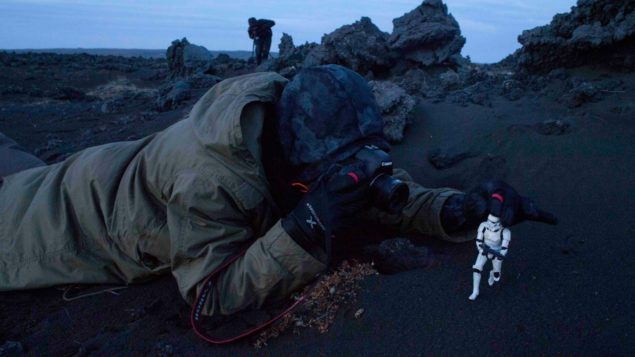 DICE Concept Artist Anton Grandert having some fun while on location in Iceland