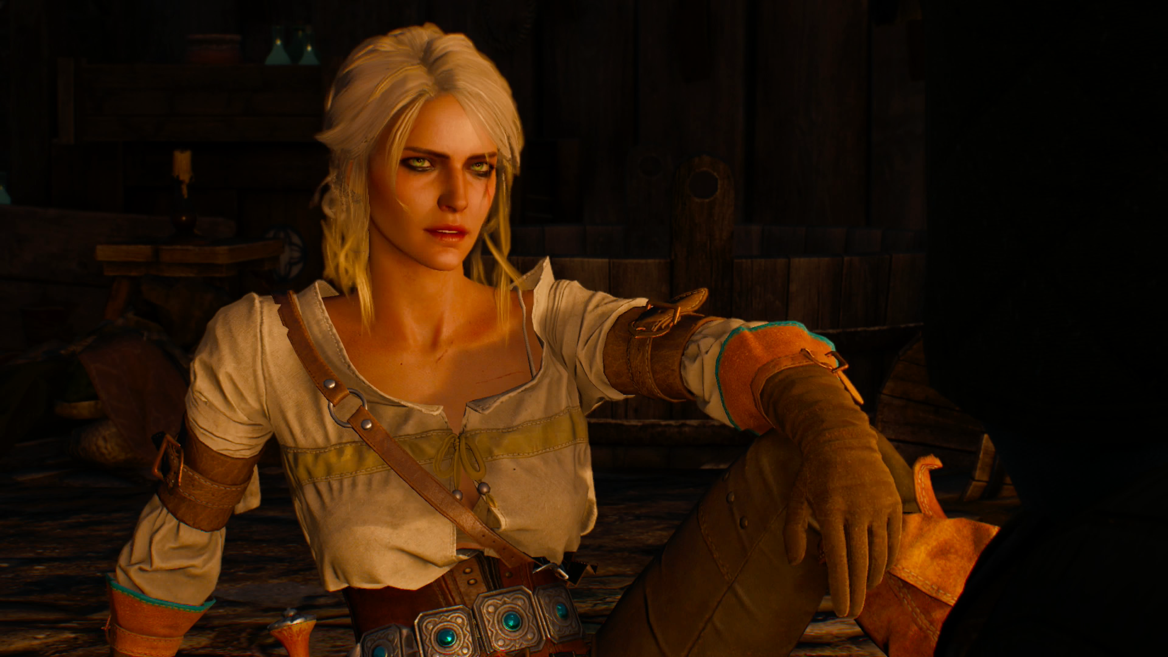 The Witcher 3 Playing as Ciri, Fighting a Werewolf