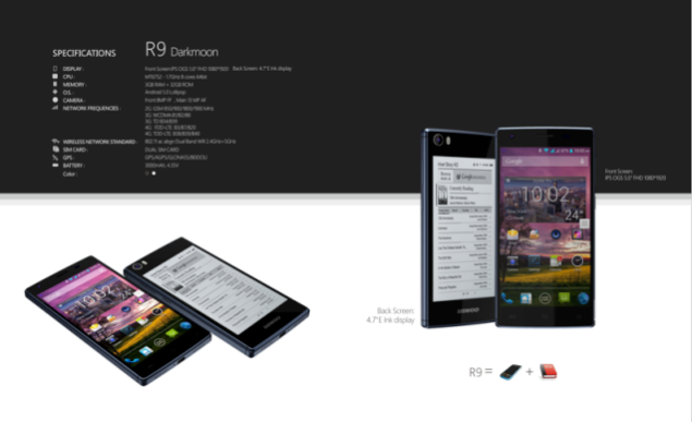 YotaPhone 2 Has A New Competitor; Siswoo R9 Darkmoon