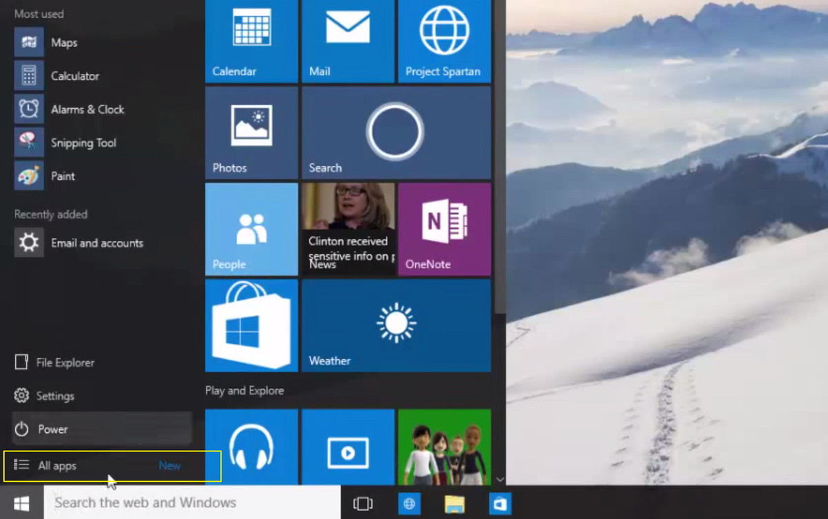 Windows 10 Leaked Screenshots - New Icons, UI Changes