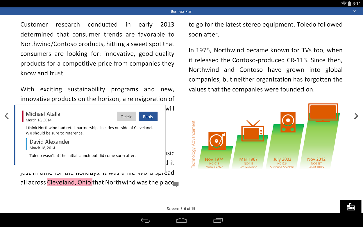 mobile version previews of word  powerpoint and excel have been released by microsoft on play store