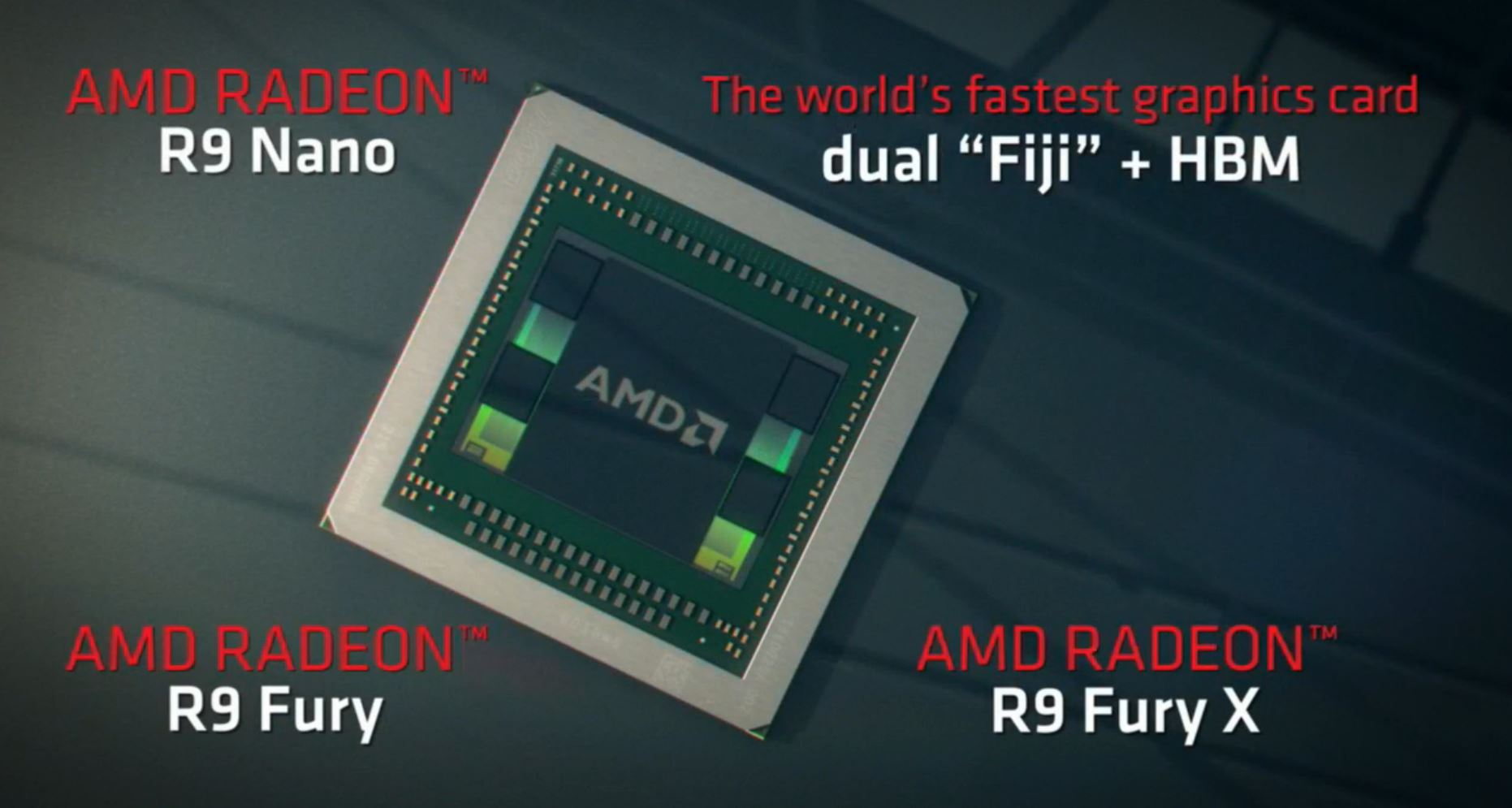 AMD Radeon Fury Series Fiji GPU Cards