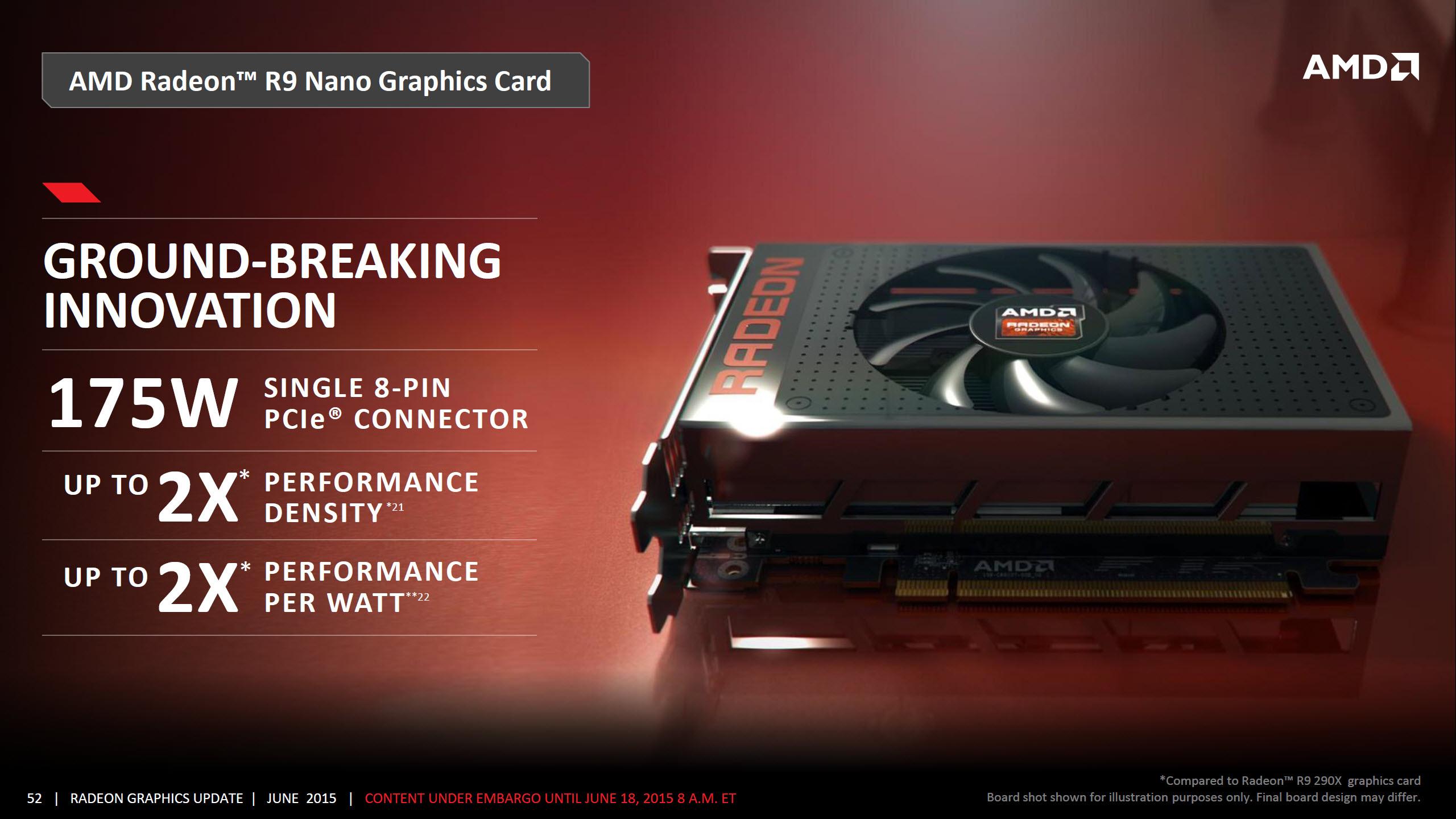 AMD Radeon R9 Nano Officially Detailed - Features Fiji GPU