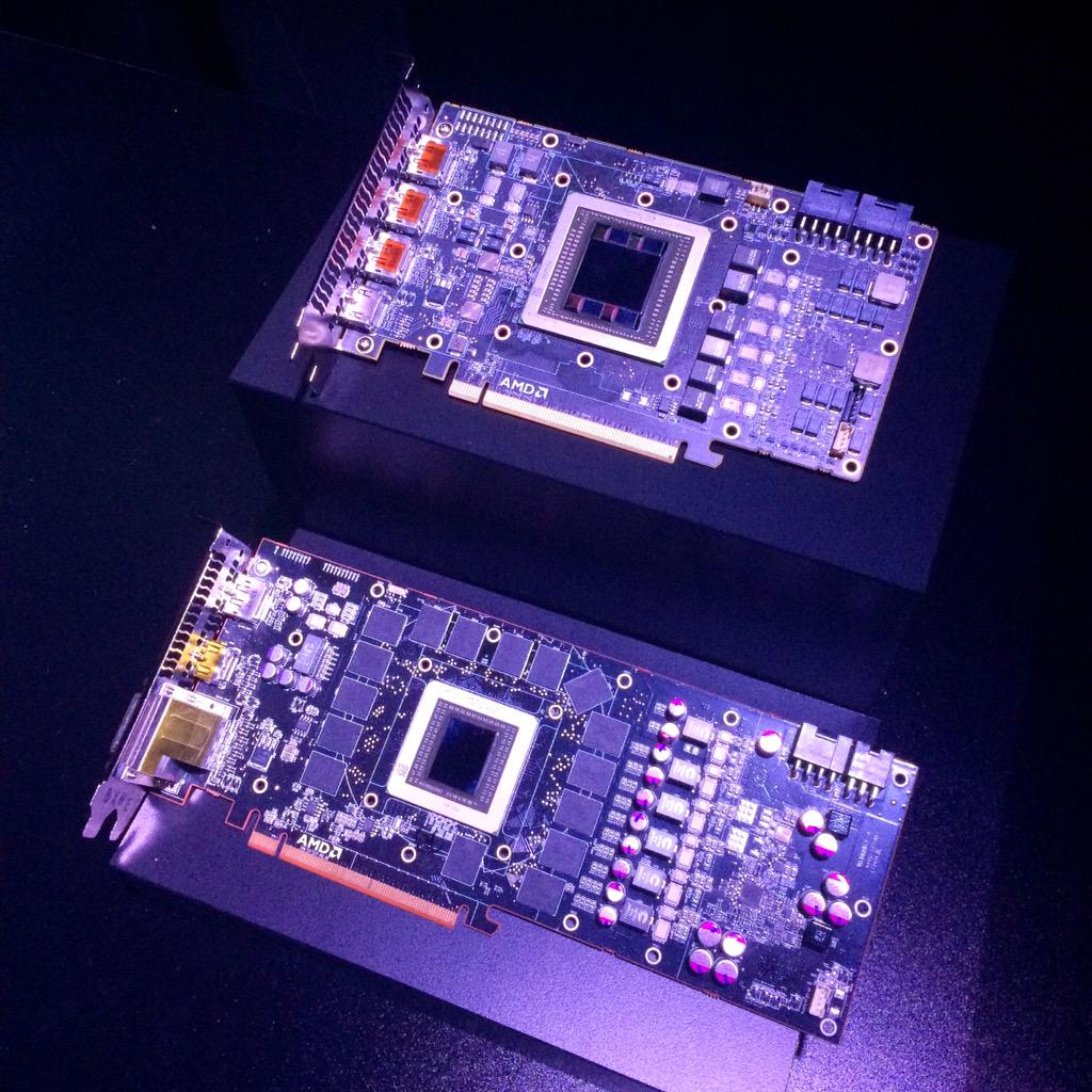 Board size comparison 11.5 inch R9 290X vs 7.5 inch R9 Fury X