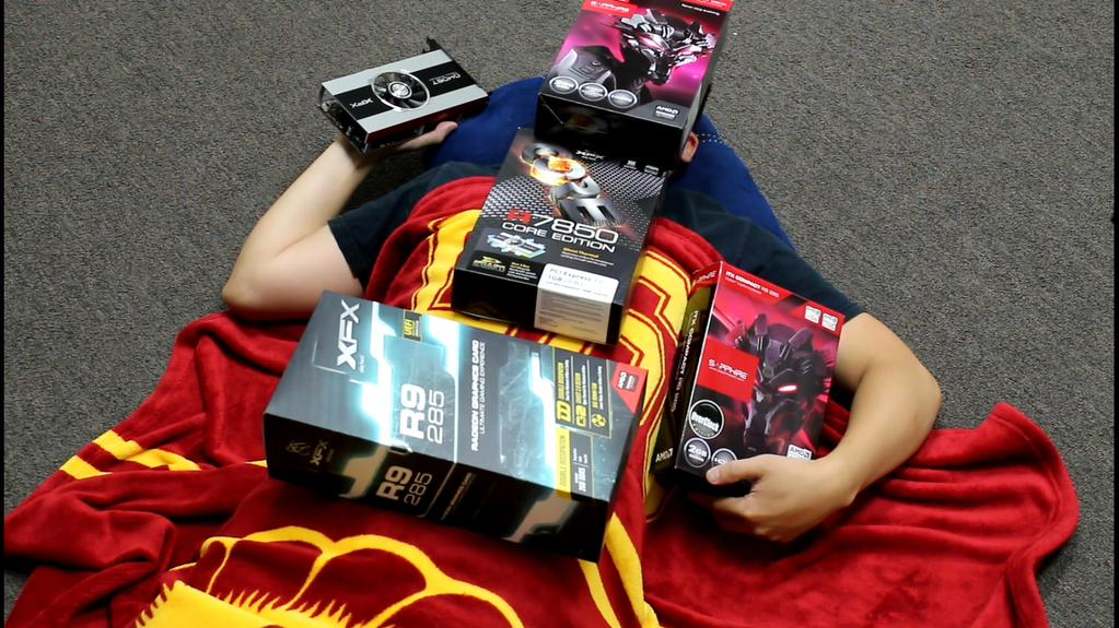 Cuddling With Graphics Cards AMD Radeon