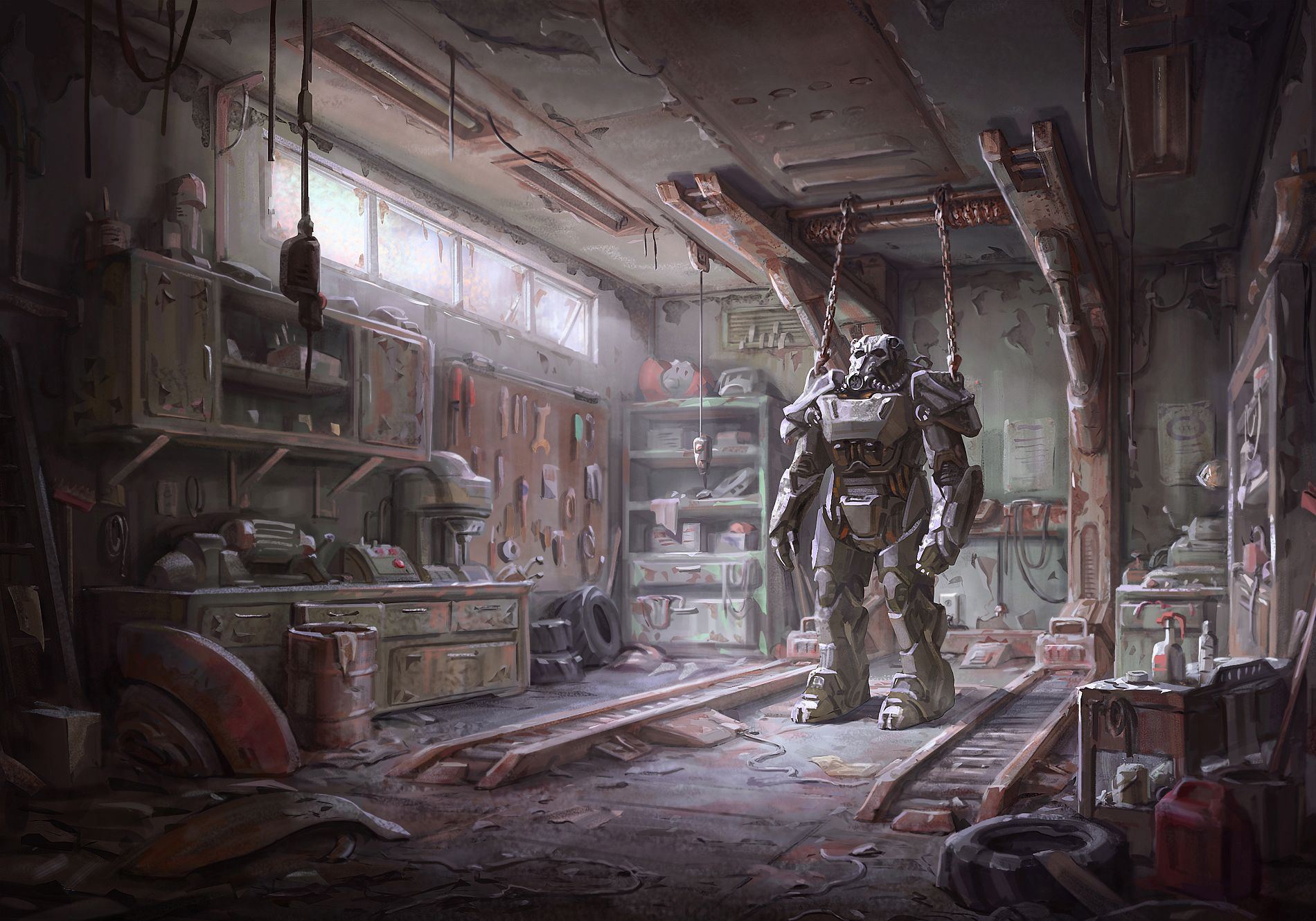Explosive Fallout 4 T-60 Power Armor Gameplay
