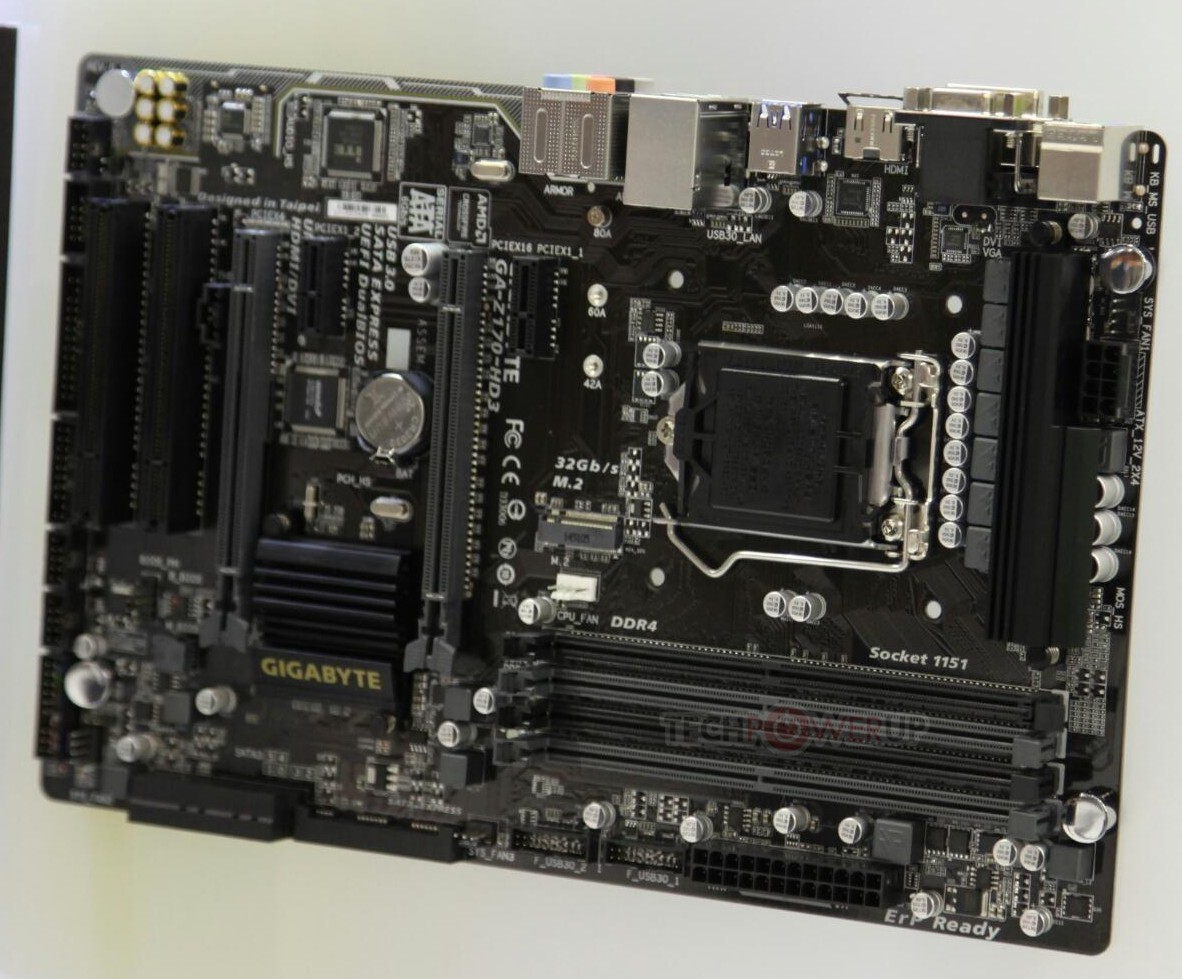 Gigabyte, MSI and Biostar Z170 Motherboards Shown Off - Pre-Production Samples Featuring DDR4 ...