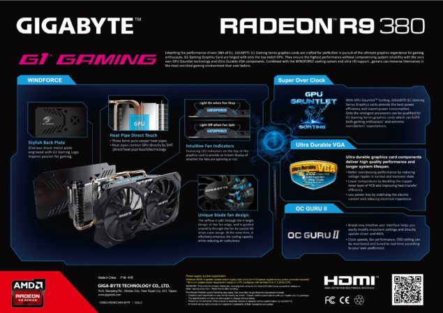 Gigabyte Radeon R9 380 WindForce II