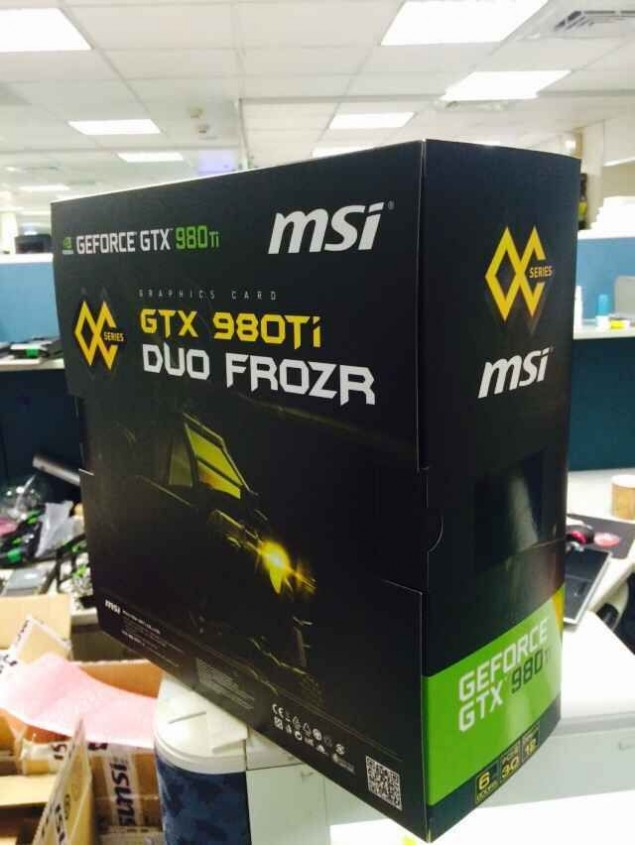 MSI GeForce GTX 9980 Ti LIGHTNING DUO FROZR