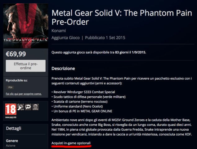 Metakl Gear Solid V