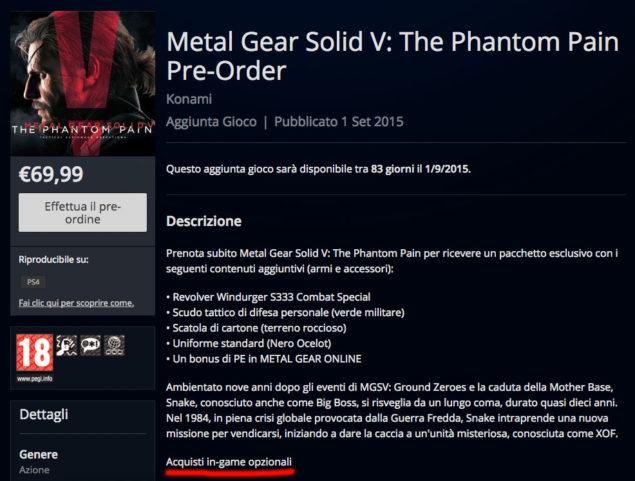 Metakl Gear Solid V