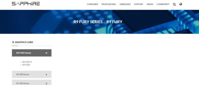 Sapphire Radeon R9 Fury X Fury
