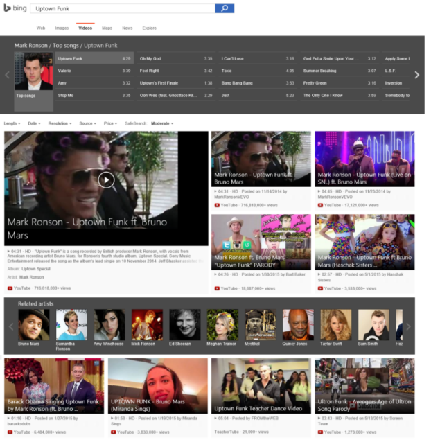 Microsoft Makes A Much YouTube Search Engine Than Google