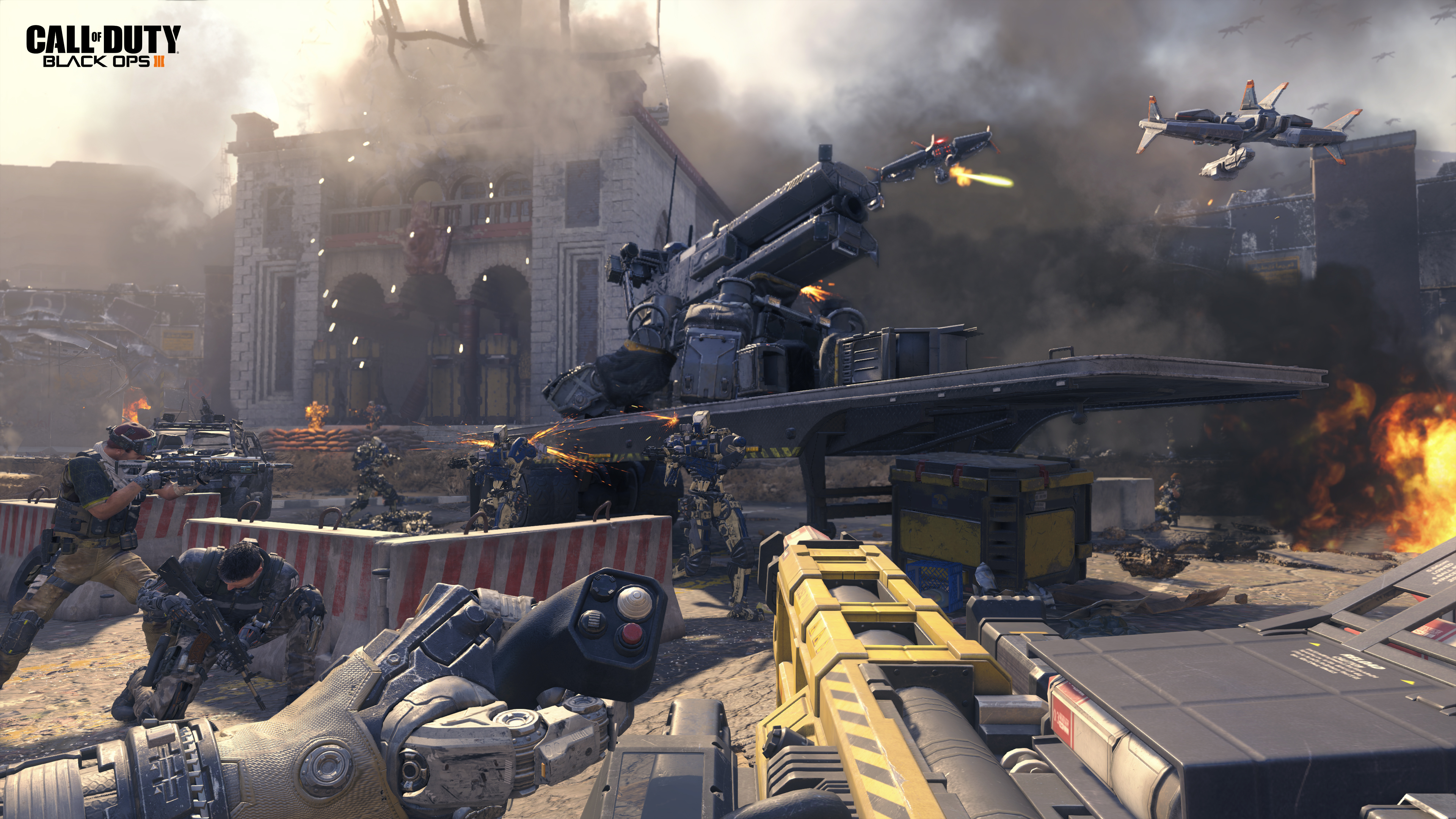 E3 2015 Sony Showcases Call Of Duty Black Ops 3 Multiplayer