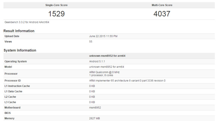 Cortex-A72 Running In Snapdragon 620 Scores Impressive Results
