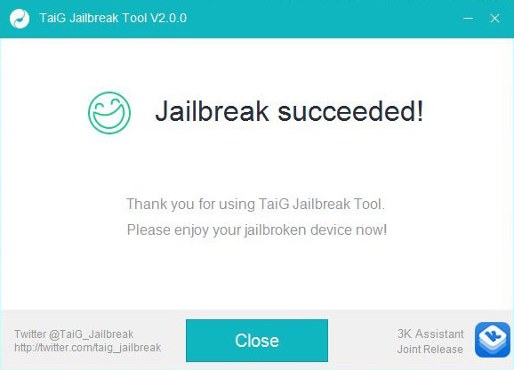 Jailbreak ios 8.3 succeeded