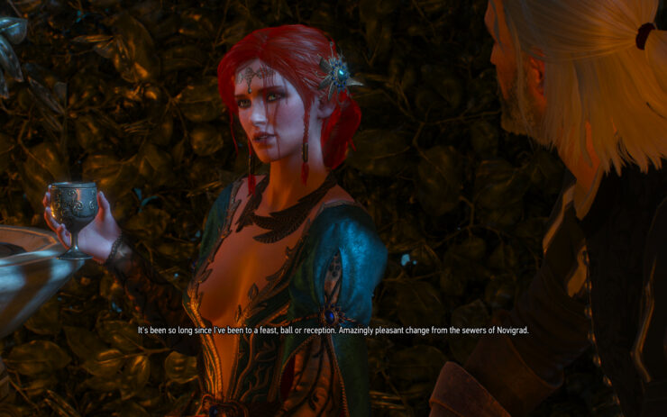 The Witcher 3 Change Triss Appearance During The Masquerade