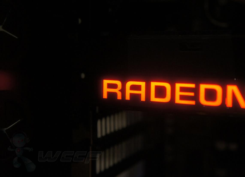 AMD Radeon Fury X LED Lit Radeon Logo
