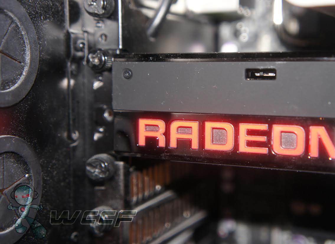 AMD Radeon Fury X LED Lit Radeon Logo 2