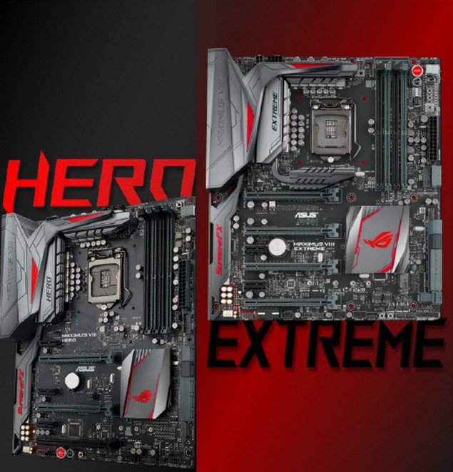 ASUS ROG Maximus VIII Extreme and ASUS ROG Maximus VIII Hero