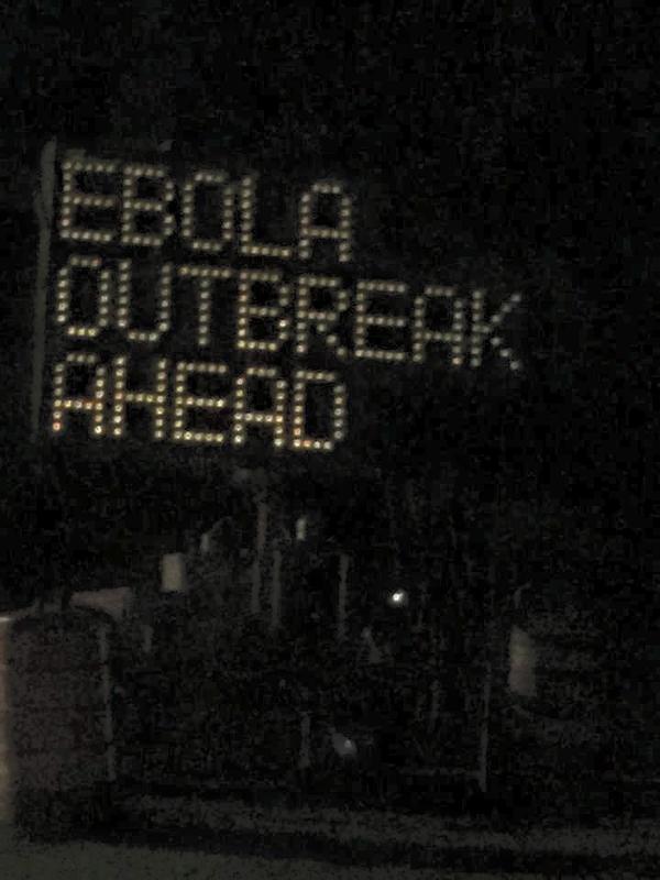 ebola road sign hack