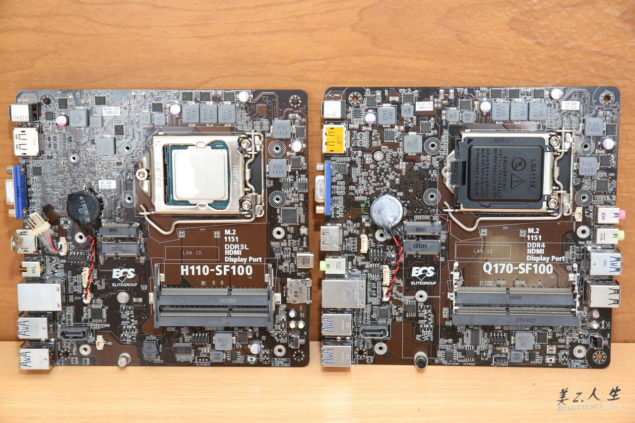 ECS H110 and Q170 Motherboards