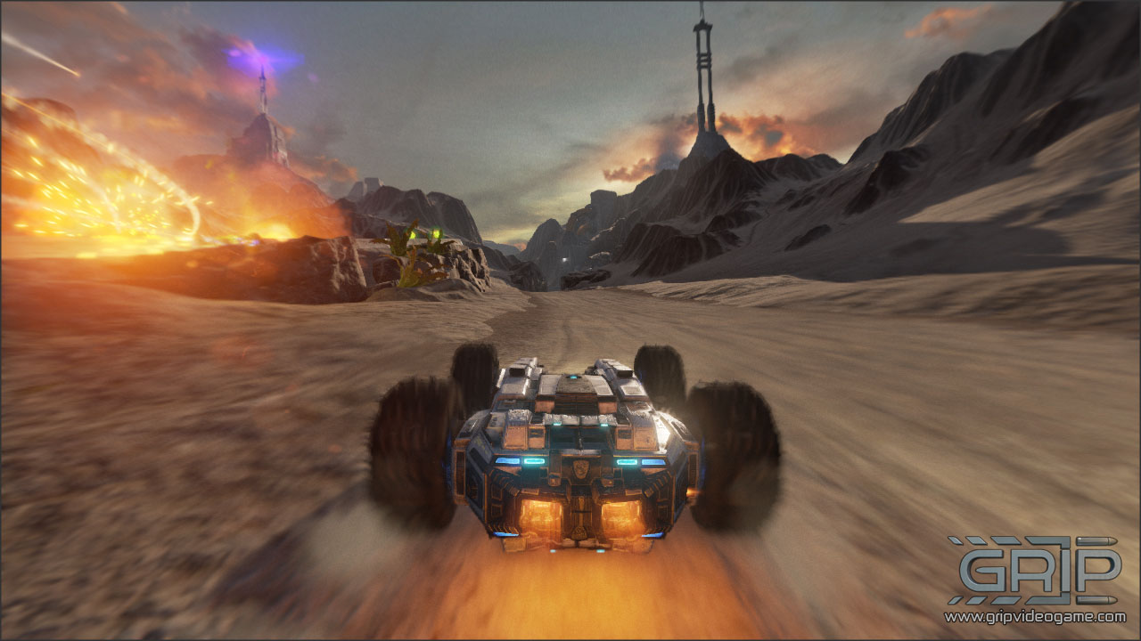 Unreal Engine 4 Futuristic Racer 'GRIP' Gets New Hilariously
