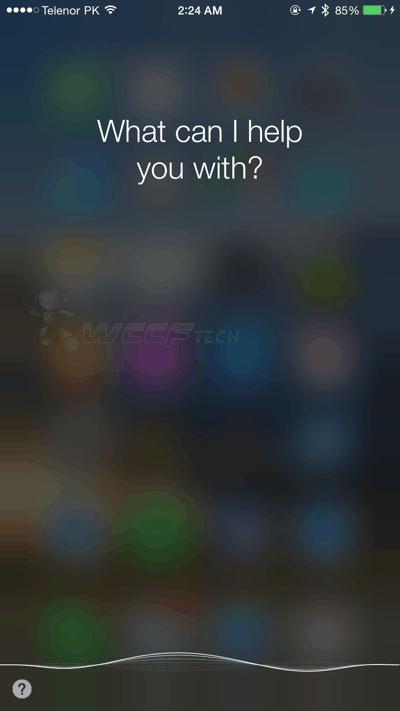 Launch Siri