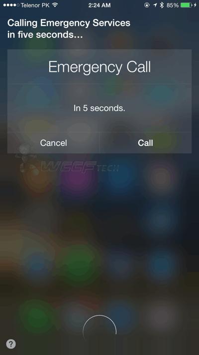 Siri Emergency Service