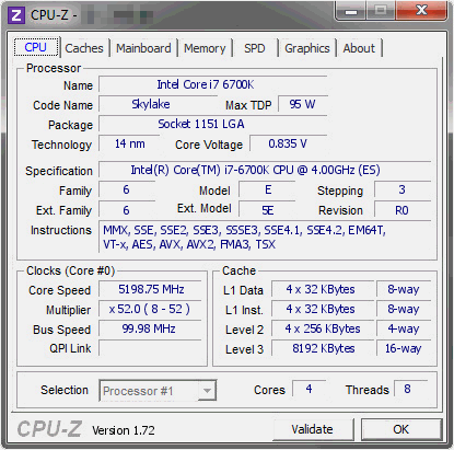 Intel Core i7-6700K Overclock