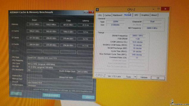 Intel Skylake Core i7-6700K DDR4 Overclock
