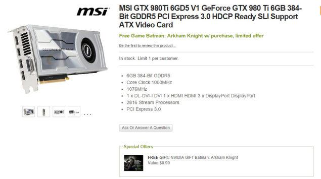 MSI GTX 980 Ti V1