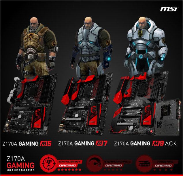 MSI Z170A Gaming Motherboards