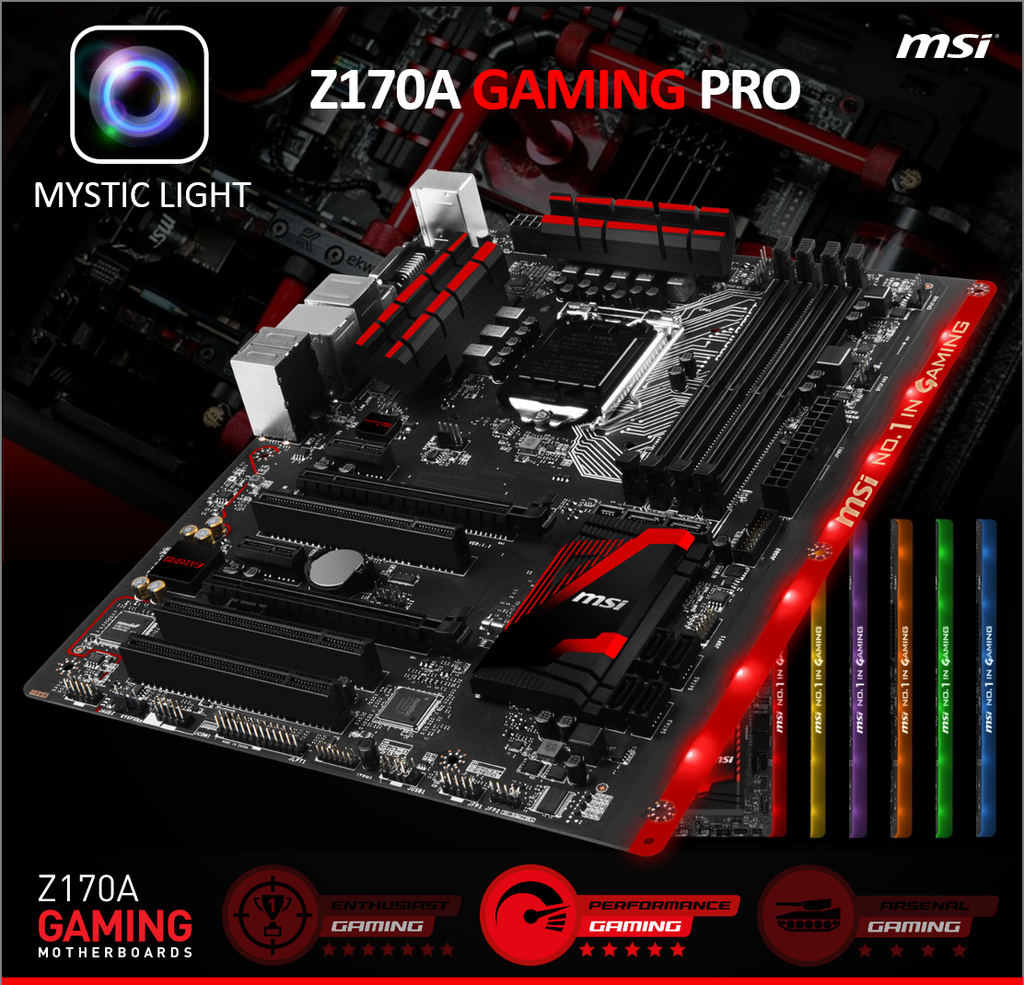 MSI Z170A Gaming Pro Motherboard msi unveils z170a gaming pro motherboard full rgb leds  at bakdesigns.co