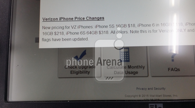 Pricing Details Of Verizon iPhone 6s Leaked Through Walmart Memo