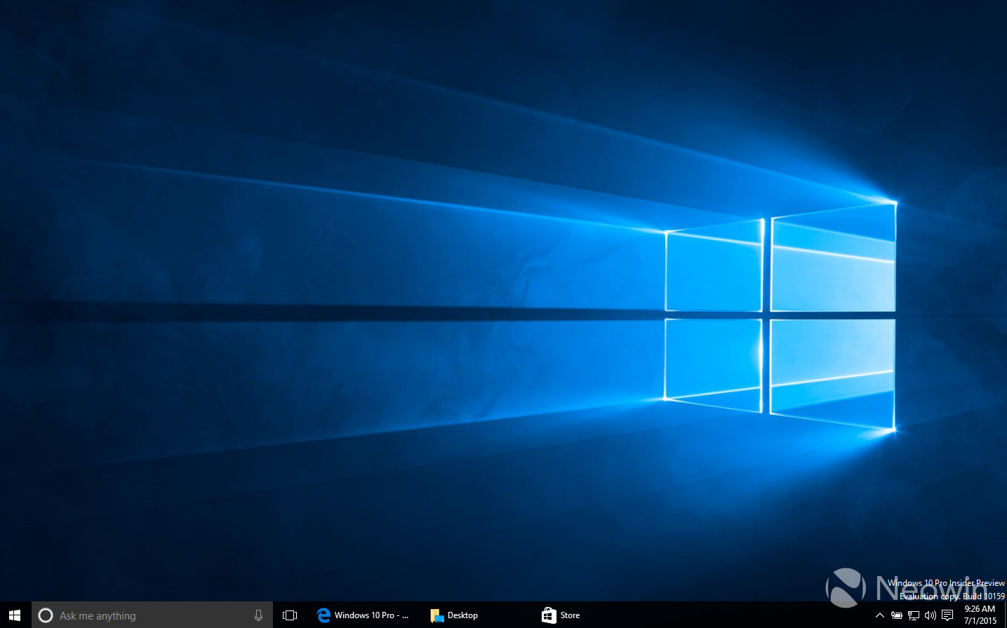 The new design feature of windows 10 10159 pc preview for Screen new window