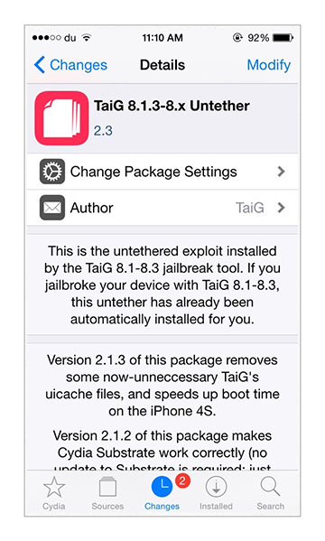 download TaiG 2.3.0 fix setreuid