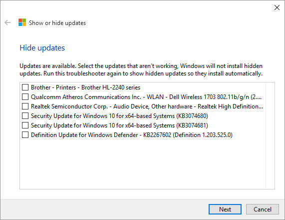 block Windows 10 updates
