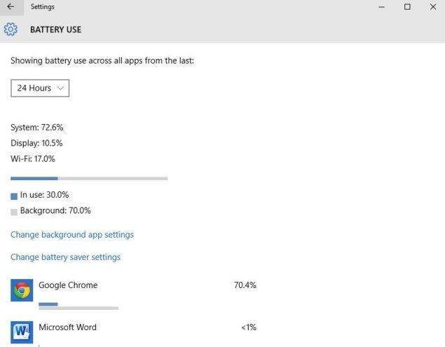 optimize windows 10 battery