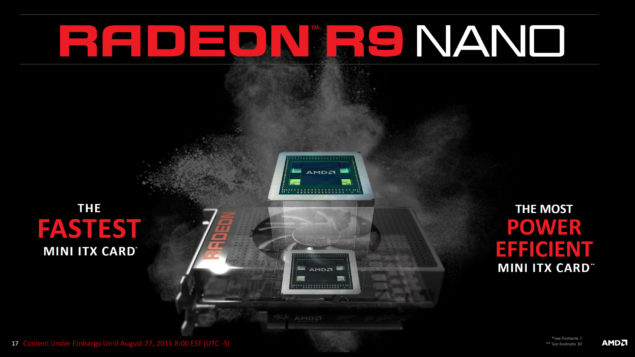 AMD Radeon R9 Nano_Mini ITX Graphics Card