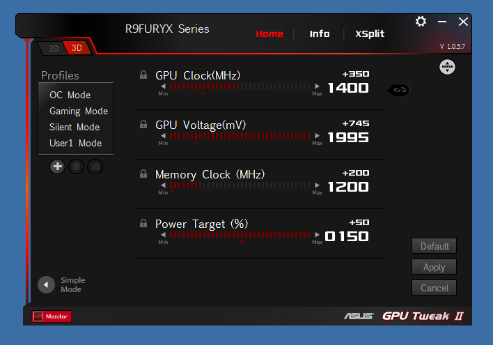ASUS Radeon R9 Fury Overclocked to 1 0 GHz HBM and 1400 MHz
