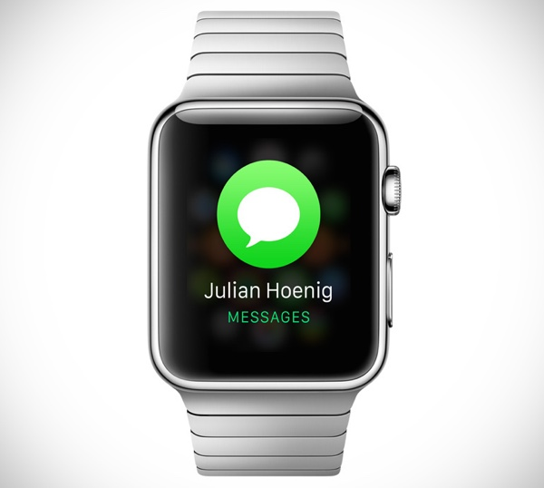 Apple Watch notification message